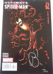 Ultimate Spider-man #62 Dynamic Forces Signed Bendis DF COA Marvel comic book